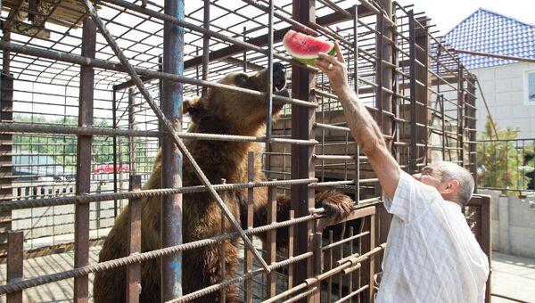 Медведи в мини-зоопарке шашлычной Гоар в Томске, фото из архива