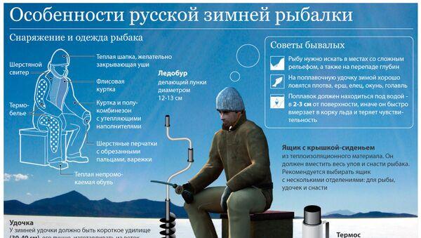 Зимняя рыбалка полезные советы