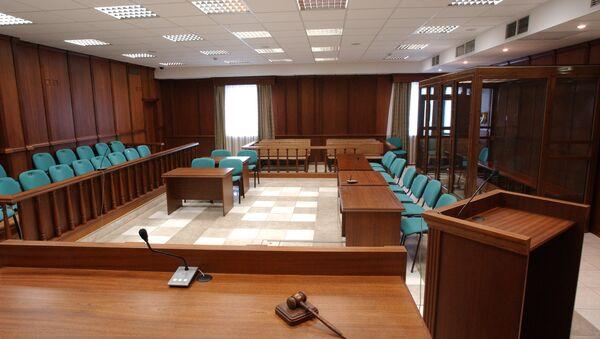 Зал судебных заседаний с местами для присяжных. Архив