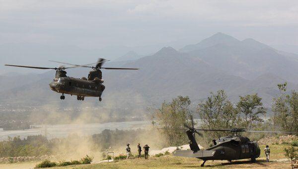 Вертолеты НАТО в Пакистане. Архивное фото