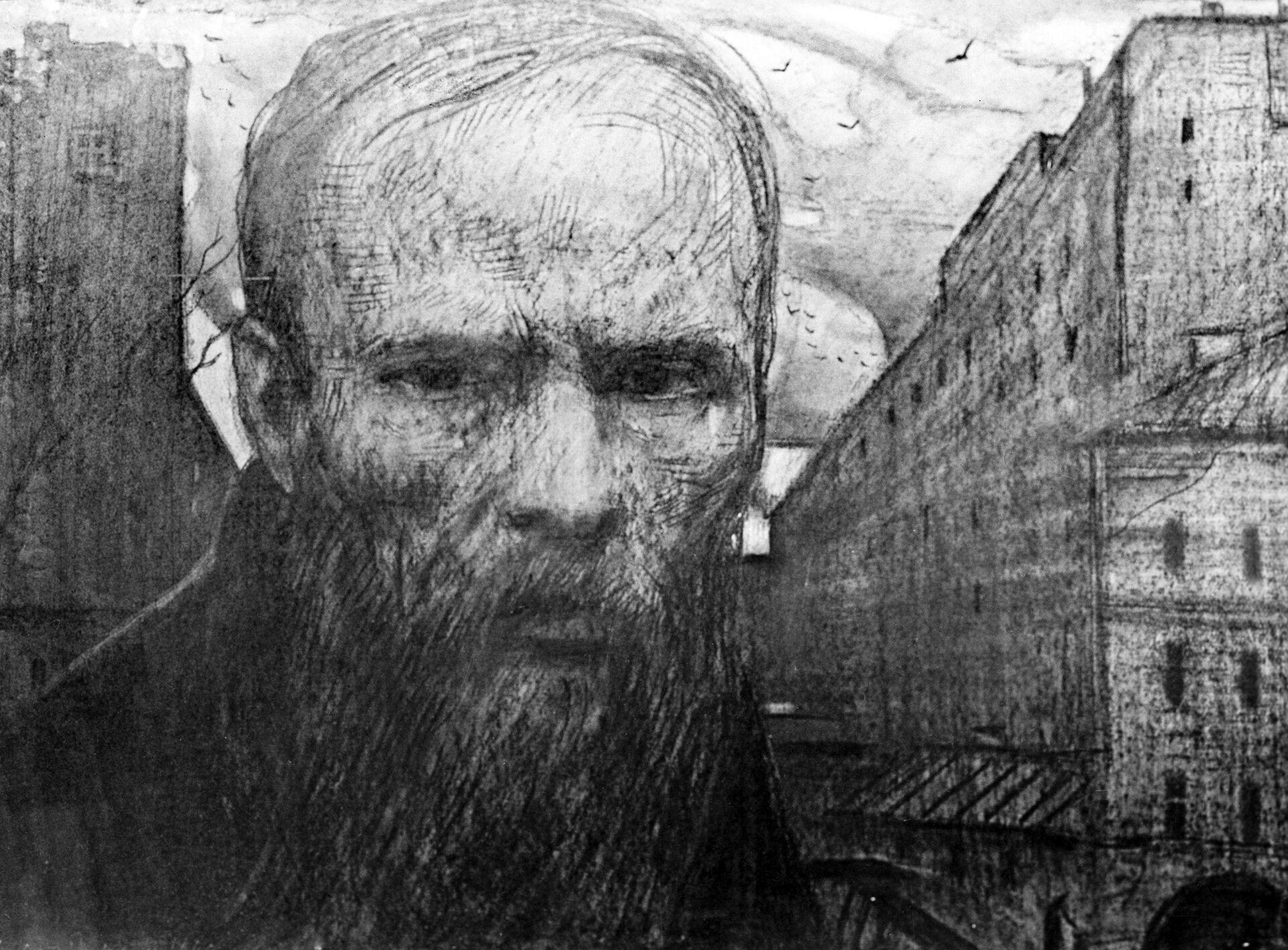 Рисунок Федор Достоевский - РИА Новости, 1920, 13.06.2021