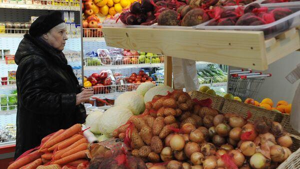 Овощи в магазине. Архивное фото