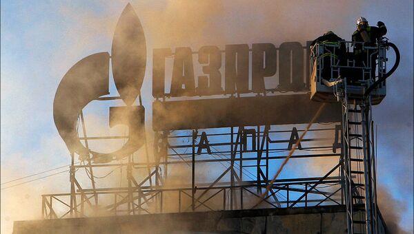 Пожар в бизнес-центре, который занимает компания Газпром инвест Запад