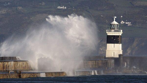 Место крушения сухогруза Свонлэнд у берегов Уэльса