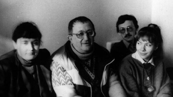 Борис Стругацкий вместе с близкими