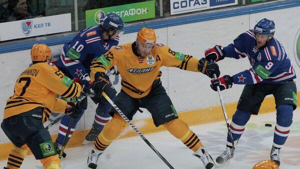 Хоккей. КХЛ. Матч СКА - Атлант. Архивное фото