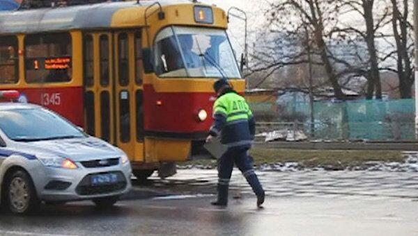 Авария на юге Москвы парализовала движение трамваев