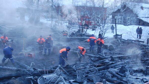 Пожар в муниципальном жилом доме