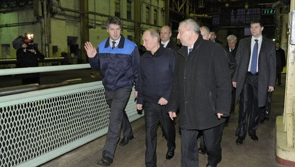 Премьер-министр РФ В.Путин посетил ОАО Балтийский завод