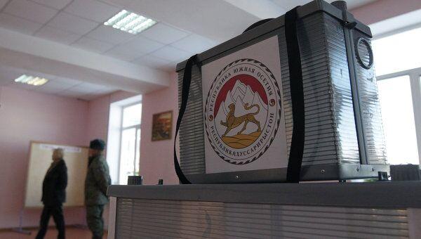 Избирательный участок в Южной Осетии