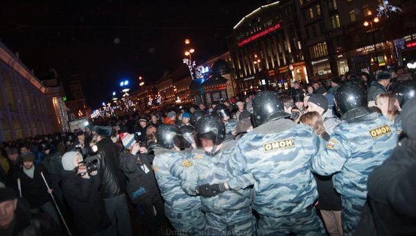 В Петербурге задержаны около 200 участников несанкционированной акции