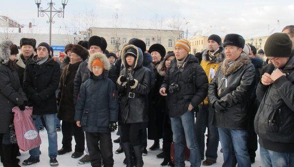 Акция российских граждан За справедливые выборы в Улан-Удэ