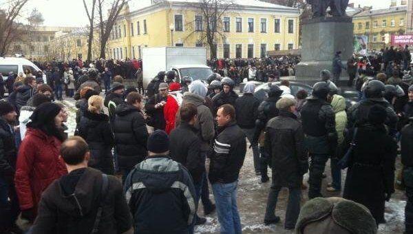 Митинг в Петербурге репортер