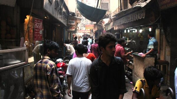 Улочка в Старом Дели