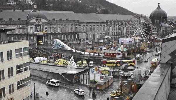 Взрыв в центре бельгийского города Льеж