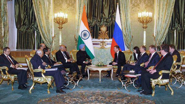 Российско-индийские переговоры в Кремле