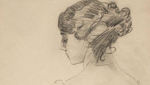 Валентин Серов.Портрет Т.П.Карсавиной. 1909 год. Бумага, графитный карандаш