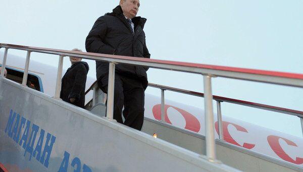 Премьер-министр В.Путин прибыл в Магадан