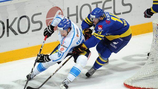 Игровой момент матча Швеция – Финляндия