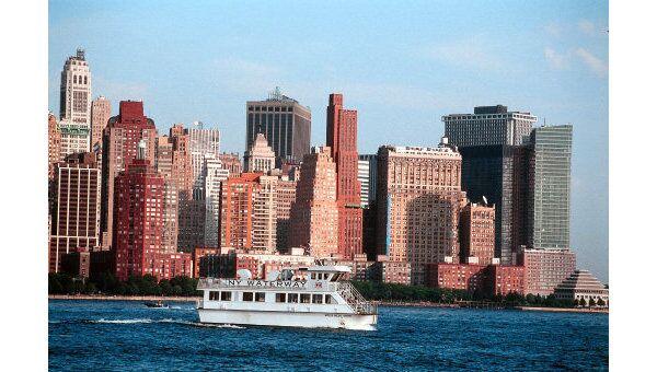 Остров Манхэттен в Нью-Йорке