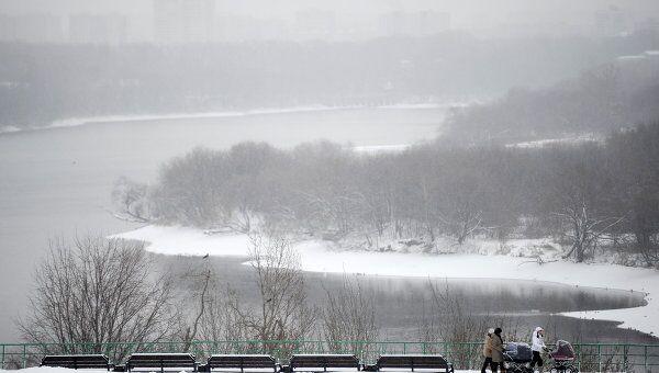 Снегопад в Москве. Архив