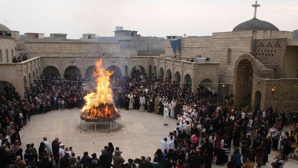 Иракские христиане празднуют Рождество в городе Хамдания