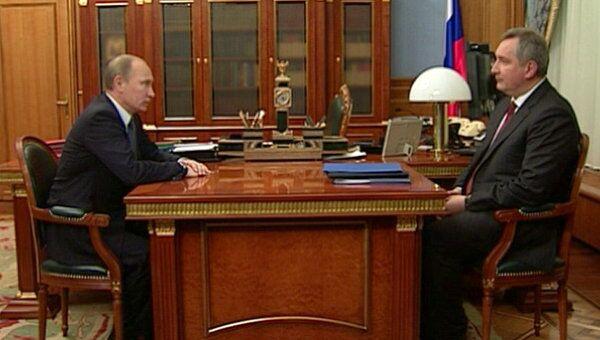 Путин поручил Рогозину разобраться с проблемами космической отрасли