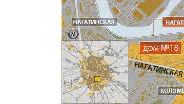 ДТП на Нагатинской набережной в Москве