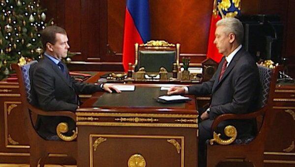 Собянин назвал Медведеву вероятную причину взрыва в московском ресторане