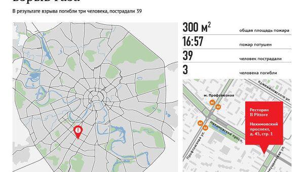 Взрыв газа в итальянском ресторане в Москве