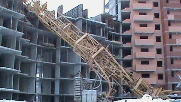 Падение башенных кранов в Подольске