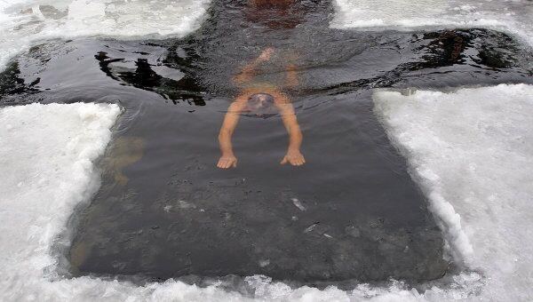 Крещенское купание. Архив