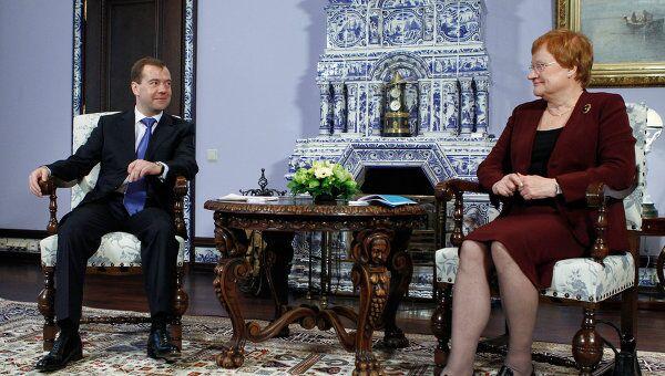 Встреча Д. Медведева и Т. Халонен