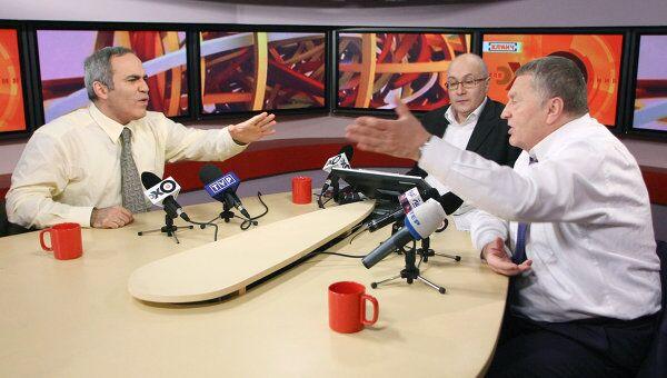 Гарри Каспаров и Владимир Жириновский в прямом эфире радиостанции Эхо Москвы
