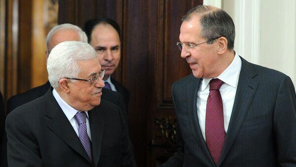 Встреча Сергея Лаврова с Махмудом Аббасом. Архивное фото