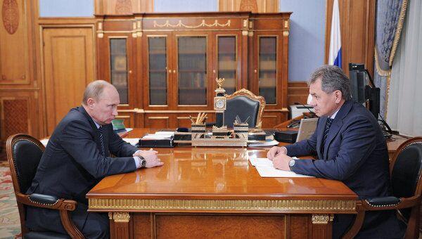 Встреча Владимира Путина с Сергеем Шойгу в Москве