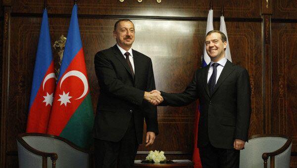 Президент России Д.Медведев встретился с президентом Азербайджана И.Алиевым в Сочи