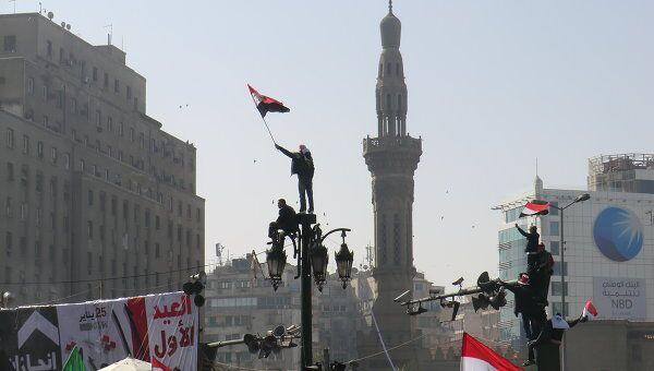 Празднование Дня революции в Египте на площади Тахрир