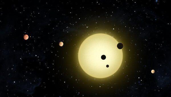 Планетная система Kepler-11 глазами художника
