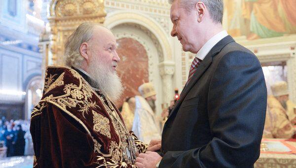 С.Собянин поздравил патриарха Московского и всея Руси Кирилла с годовщиной интронизации