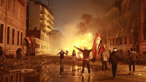 Ночные беспорядки в Каире