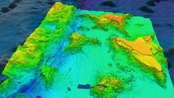 Трехмерная карта дна Марианской впадины