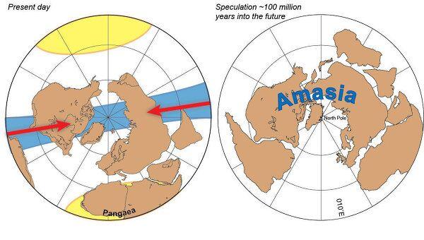 Последствия формирования будущего суперконтинента - Амазии