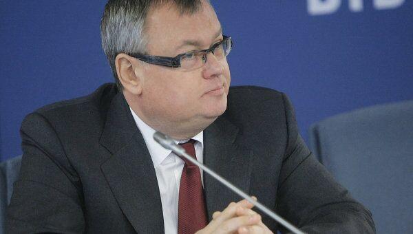 Андрей Костин на совещании, которое провел премьер-министр РФ Владимир Путин