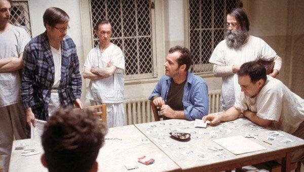 Кадр из фильма Пролетая над гнездом кукушки, 1975