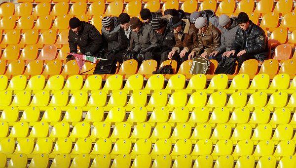Болельщики Рубина на матче Рубин - Олимпиакос