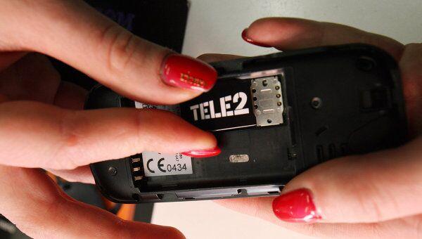 Работа салона сотовой связи TELE2