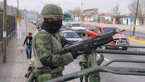Армия на улицах Сьюдад-Хуареса в Мексике
