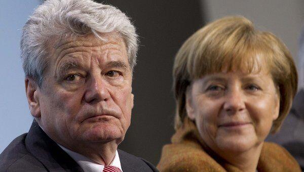 Йоахим Гаук и Ангела Меркель