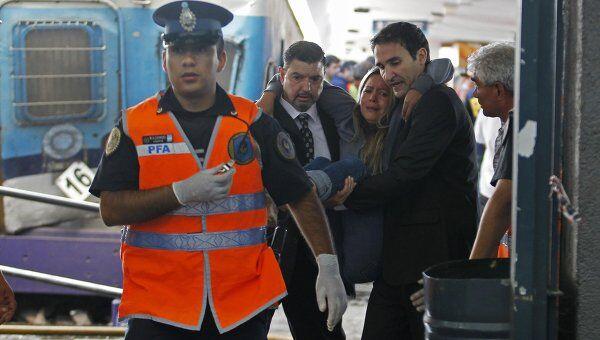 Инцидент на станции Once в центре столицы Аргентины Буэнос-Айреса